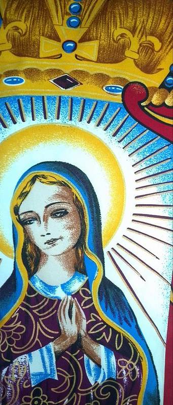Mary Art Print featuring the painting Mary by Julie Butterworth