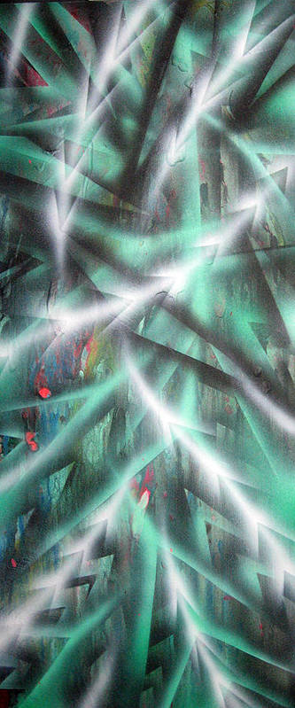 Forest Art Print featuring the painting Alien Forest by Leigh Odom