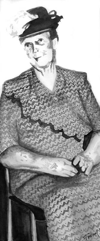 Grandmother Art Print featuring the painting Grandma by Ferrel Cordle