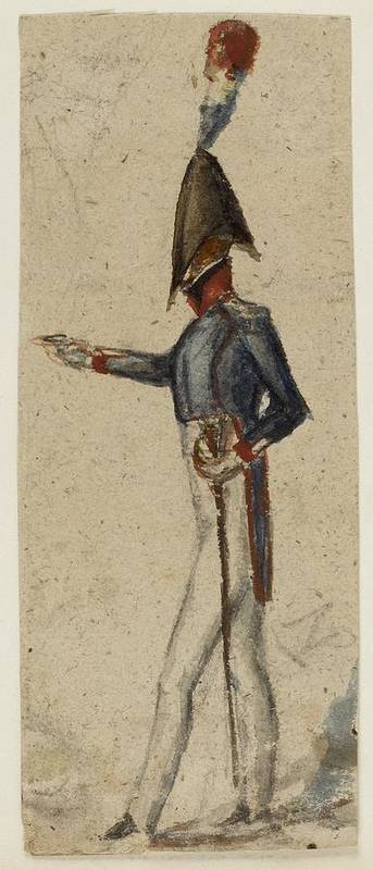 Prosper M�rim�e (french Art Print featuring the painting Le Militaire by MotionAge Designs