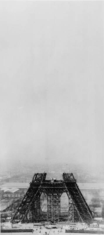 1880-1889 Art Print featuring the photograph Eiffel Construction 4 by Henry Guttmann Collection
