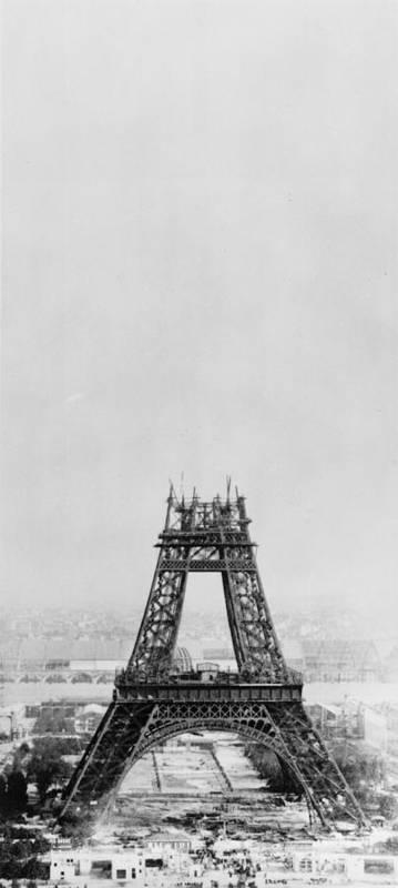 1880-1889 Art Print featuring the photograph Eiffel Construction 7 by Henry Guttmann Collection