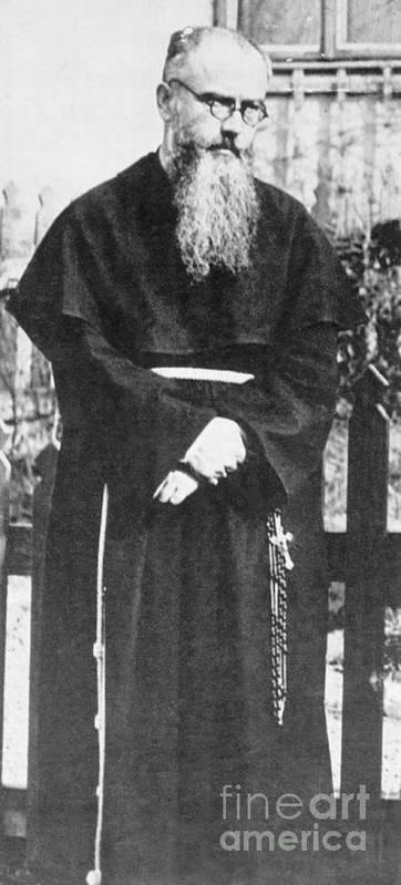 Mature Adult Art Print featuring the photograph Franciscan Martyr Saint Maximilian Kolbe by Bettmann