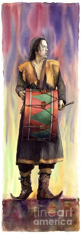 Watercolor Art Print featuring the painting Varius Coloribus Abul by Yuriy Shevchuk