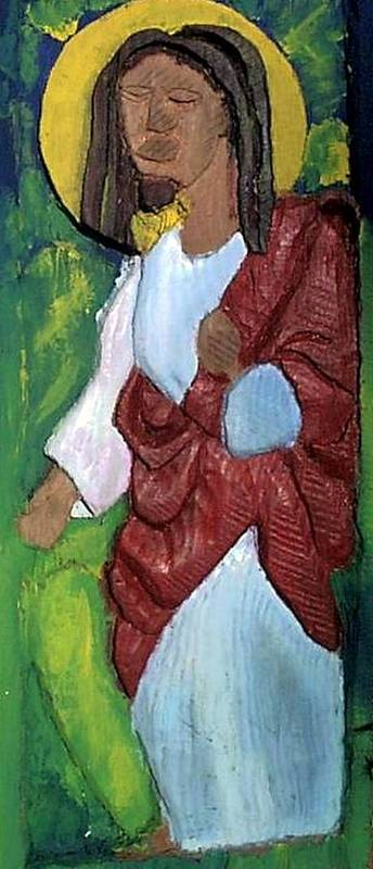 Art Print featuring the painting J.b.j. The Christ Like Me by Kalikata MBula