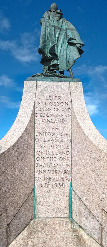 Iceland Art Print featuring the photograph Iceland Leif Erricson Statue by Gregory Dyer