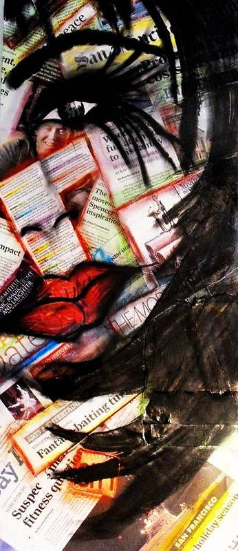 Art Art Print featuring the painting Lips by Cat Jackson