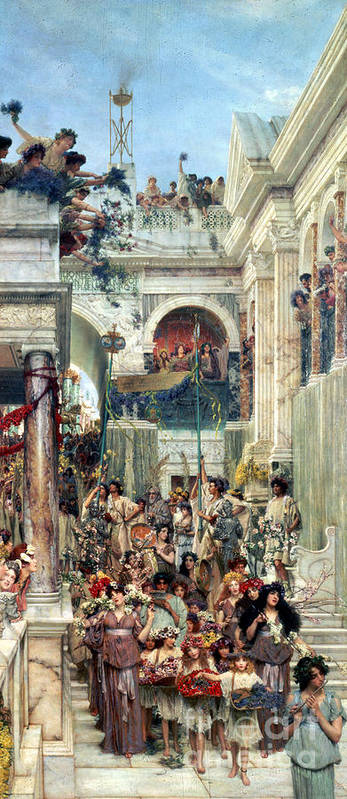 Spring Print featuring the painting Spring by Sir Lawrence Alma-Tadema