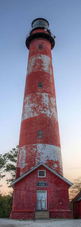 Assateague Island Art Print featuring the photograph Assateague Island Lighthouse by JC Findley