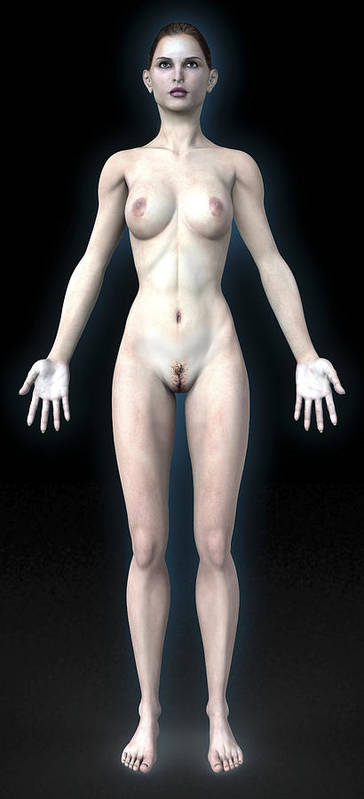 Human Art Print featuring the photograph Naked Woman by Christian Darkin