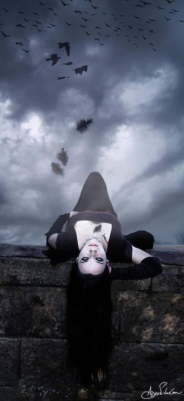 Vampire Art Print featuring the digital art Solitude Of A Vampire by Adro Von Crow