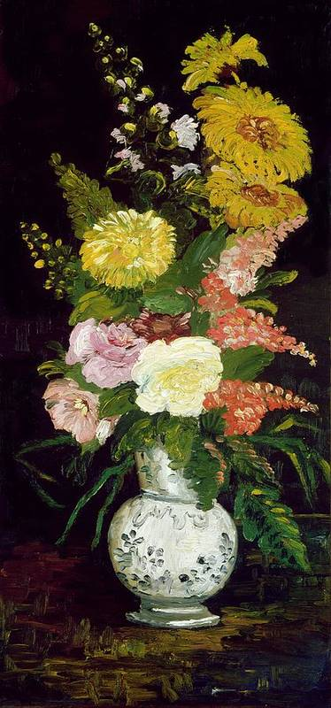 Vase Of Flowers 1886 Art Print By Vincent Van Gogh