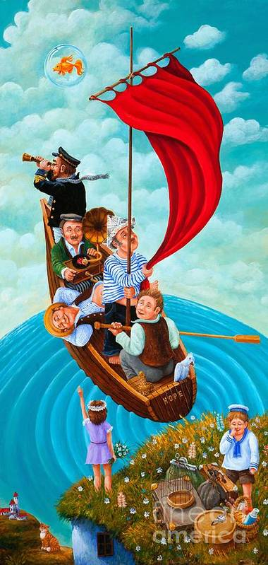 Figurative Art Print featuring the painting Ship Of Fools by Igor Postash