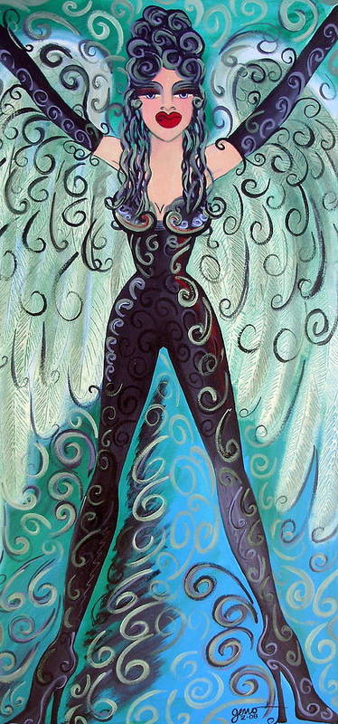Angel Artwork Art Print featuring the painting Fairy Angel Samantha by Helen Gerro