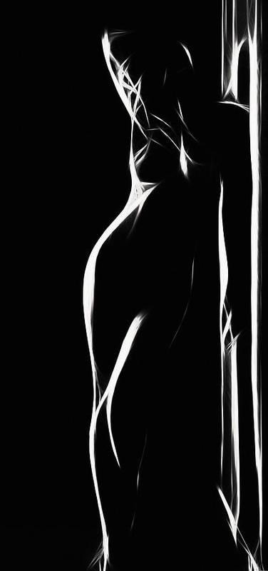 Female Women Woman Body Nude Breast Tits Mouth Hair Scape Figure Curve Curves Abstract Painting Digital Expressionism Impressionism Naked Black White Erotic 裸 Girl Sex Intimate Virgin Boobs Butt Innocence Pige Kuinde Intimt Erotisk Jomfru Sukupuoli Nainen Ragazza Donna Sesso Intimo Erotico Vergine Culo Tette Innocenza Fille Femme Sexe Erotique Cul Vierge Seins Sieviete Sekss Dziewczyna Kobieta Cycki Menina Intima Erotica Virgen Tetas Inocencia Desmudo Beauty Sensual Portrait Art  Print featuring the digital art Mind Art Girl by Steve K