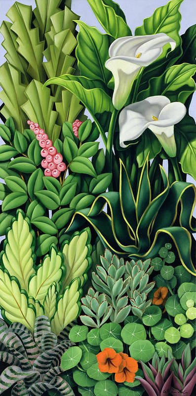 Foliage Art Print featuring the painting Foliage by Catherine Abel