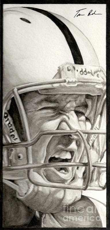 Football Art Print featuring the painting Intensity Peyton Manning by Tamir Barkan