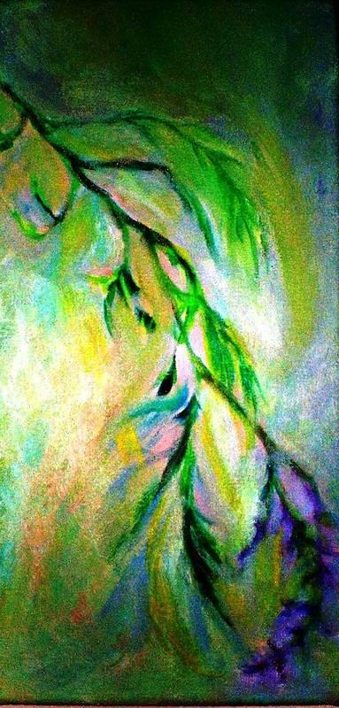 Flower Art Print featuring the painting Lavender by Rashne Baetz