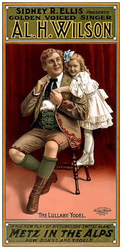 Vintage Poster Art Print featuring the painting Lullaby Yodel by Terry Reynoldson