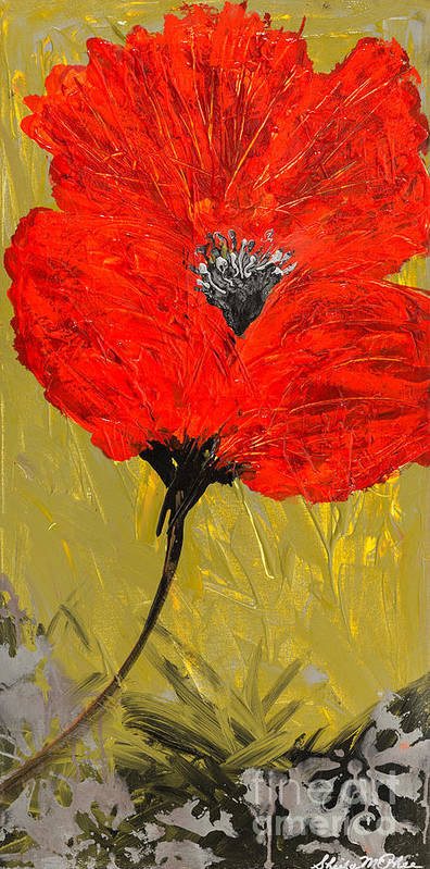 Poppy Art Print featuring the painting Poppy 46 by Sheila McPhee