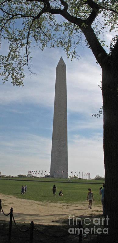 Washington Monument Art Print featuring the photograph Washington Monument  #0817 by J L Woody Wooden
