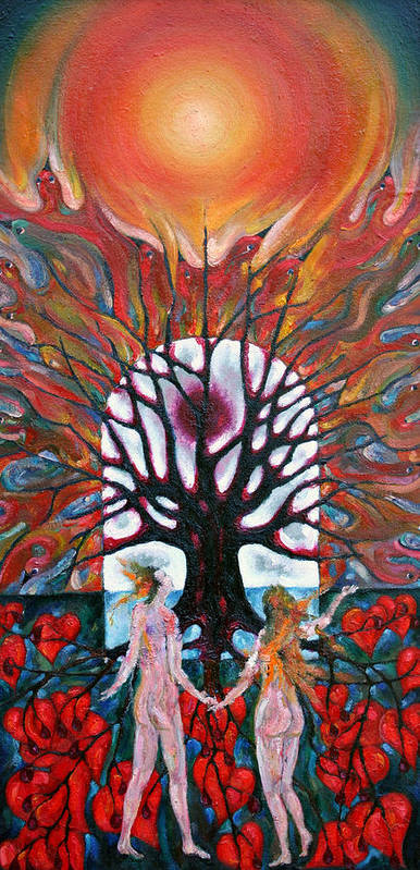 Colour Art Print featuring the painting Awakening by Wojtek Kowalski