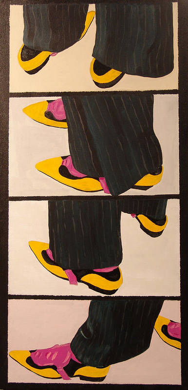 New Museum Art Print featuring the painting Dancin Shoes by Kevin Callahan