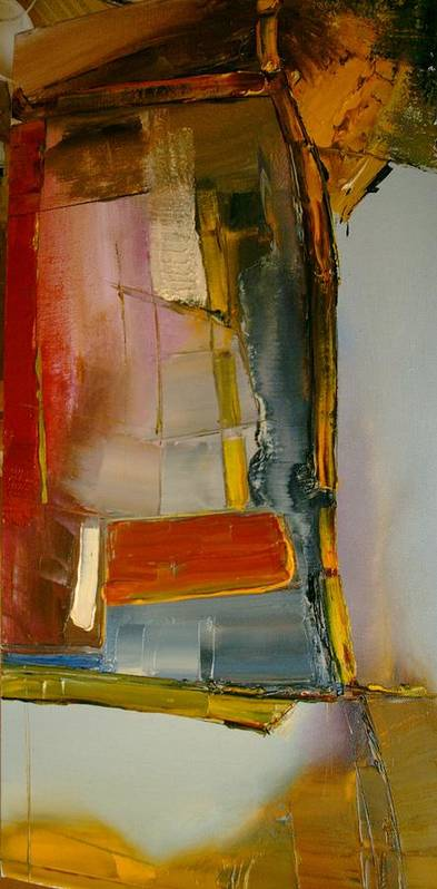 Abstract Art Print featuring the painting Everything Is Blended Nothing Stands Alone by Stefan Fiedorowicz