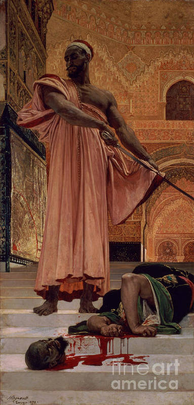 Execution Art Print featuring the painting Execution Without Trial Under The Moorish Kings In Granada by Henri Alexandre Georges Regnault