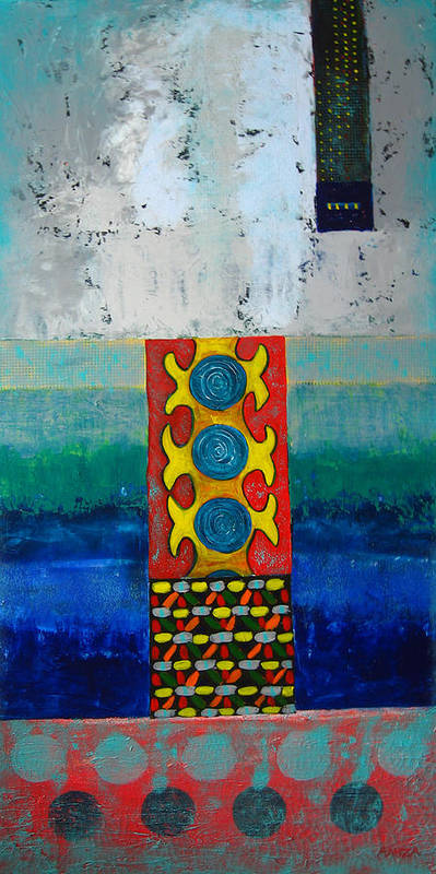 Abstract Art Print featuring the painting Inner Vision by Aliza Souleyeva-Alexander