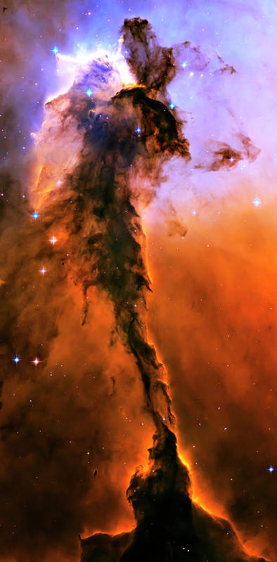 Outer Space Art Print featuring the photograph Release - Eagle Nebula 1 by Jennifer Rondinelli Reilly - Fine Art Photography