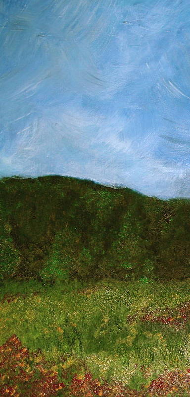 Landscape Art Print featuring the painting Study In Light Five by Karen Fowler