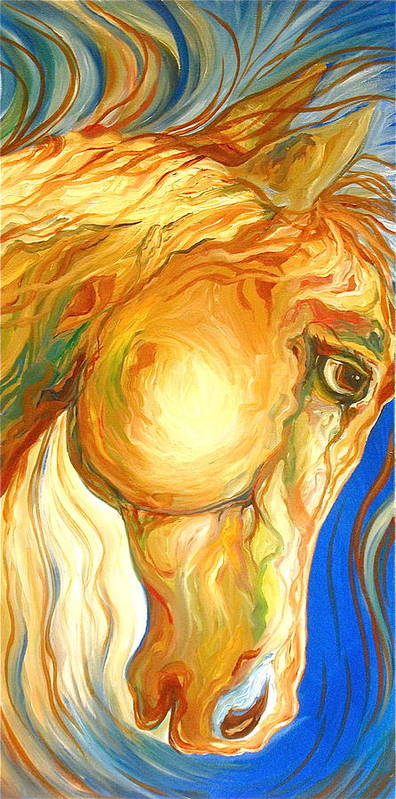 Equine Art Print featuring the painting The Look by Rebecca Robinson
