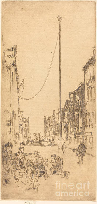 Art Print featuring the drawing The Mast by James Mcneill Whistler