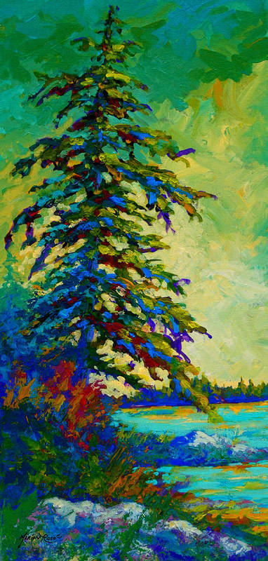 West Coastal Art Print featuring the painting West Coast Sentinel by Marion Rose