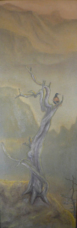 Bird Art Print featuring the painting Lone Sentinel by Dan Bozich