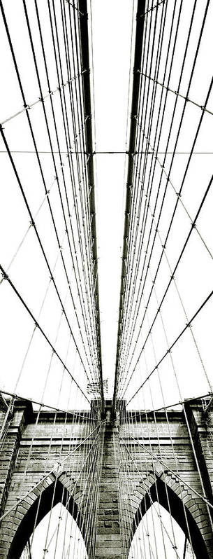 Arch Art Print featuring the photograph Brooklyn Bridge by Giuseppe Ceschi