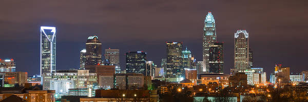 City Art Print featuring the photograph Charlotte Skyline 2012 by Brian Young