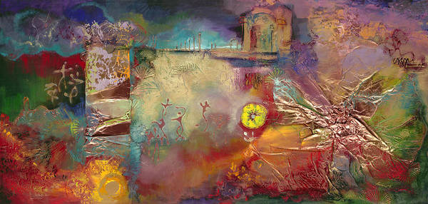 Art Print featuring the painting Memory Dance by Farhan Abouassali