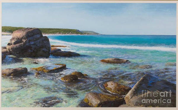 Pastel Art Print featuring the painting Oceans Edge by Gary Leathendale