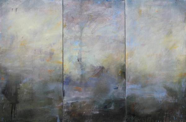 Abstract Art Print featuring the painting French Landscape Triptych by Thomas Darnell