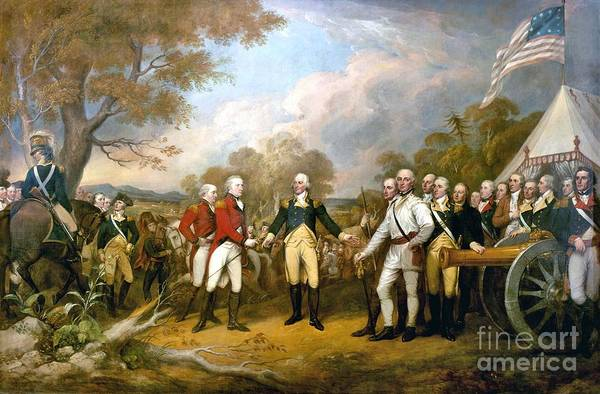 Surrender of General Burgoyne by Pg Reproductions