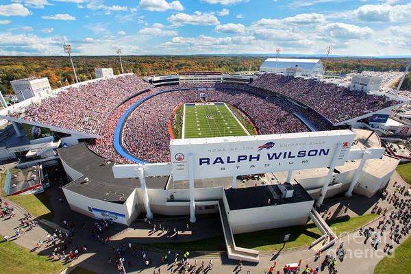 Ralph Wilson Stadium Art Print featuring the photograph Ralph Wilson Stadium by Anthony Salerno