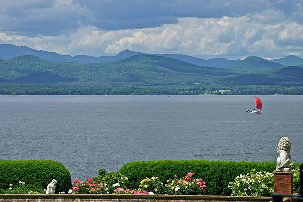 Red Sail as viewed from The Inn at Shelburne Farms by Mark Holden