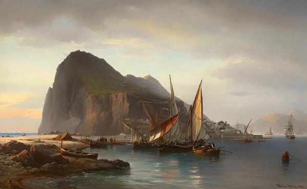 Shipping Off Gibraltar by Mountain Dreams