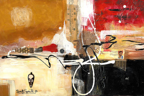 Everett Spruill Art Print featuring the painting Cultural Abstractions - Hattie McDaniels by Everett Spruill