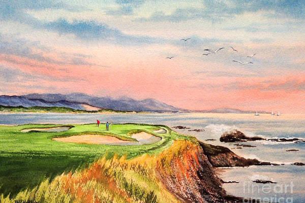 Pebble Beach Golf Course Hole 7 by Bill Holkham