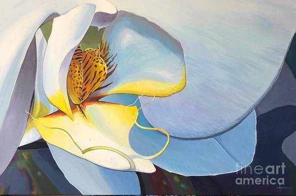 Orchid Art Print featuring the painting All You Need is Now by Hunter Jay