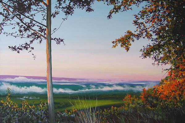 Landscape Art Print featuring the painting September Sky by Hunter Jay