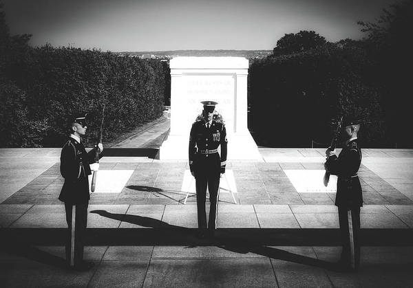 Changing Of The Guard At The Tomb Of The Unknowns At Arlington by Mountain Dreams